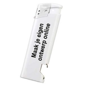 Aansteker elektronisch met opener - 2 kanten bedrukt - Aansteker ontwerpen - DesignOntwerpen