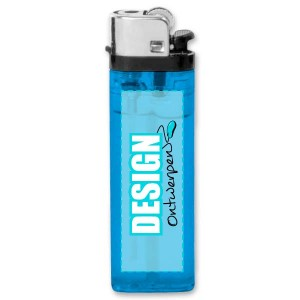 Aansteker transparant - 1 kant bedrukt - Aansteker ontwerpen - DesignOntwerpen