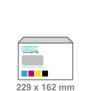 C5 Enveloppen met venster links - Enveloppen - DesignOntwerpen