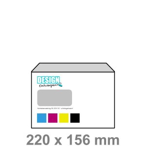 EA5 Enveloppen met venster links - Enveloppen - DesignOntwerpen