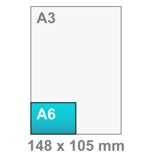 A6 Flyers liggend - Flyer maken - liggend - DesignOntwerpen
