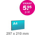 A4 Foamboard - liggend