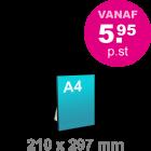 A4 Foamboard - staand