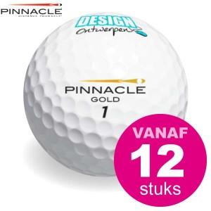 Golfbal bedrukken - Pinnacle Gold Mix AA klasse - Golfballen - DesignOntwerpen