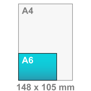 Kaart maken - liggend - A6 kaart - liggend