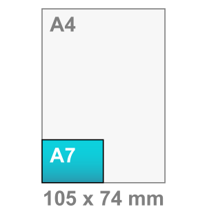 Kaart maken - liggend - A7 kaart - liggend