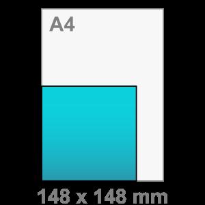 Kaart maken - vierkant - Vierkant kaart - groot