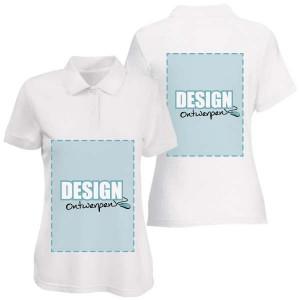 Dames Polo bedrukken: Voor- en achterkant - Polo s - DesignOntwerpen