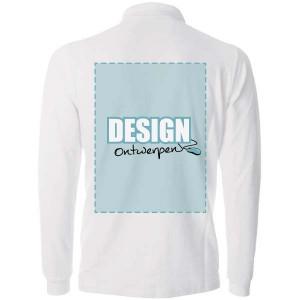 Polosweater bedrukken: Achterkant - Sweaters - DesignOntwerpen