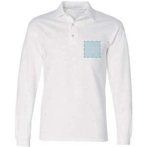 Polosweater bedrukken: Voorkant op de borst - Sweaters - DesignOntwerpen