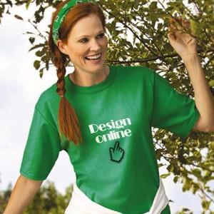 Dames T-shirt bedrukken: Voorkant - T-shirts - DesignOntwerpen
