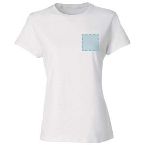Dames T-shirt bedrukken: Voorkant op de borst - T-shirts - DesignOntwerpen