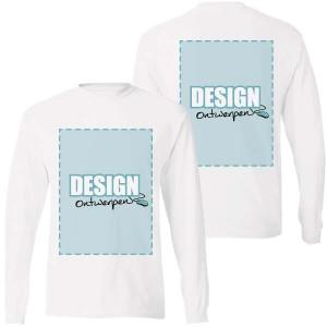 Longsleeve bedrukken: Voor- en achterkant - Longsleeves - DesignOntwerpen