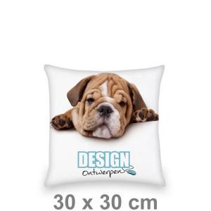 Kussen 30x30 cm - Voorkant bedrukt - Sierkussen maken - DesignOntwerpen