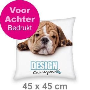 Kussen 45x45 cm - Voor- en achterkant bedrukt - Sierkussen maken - DesignOntwerpen