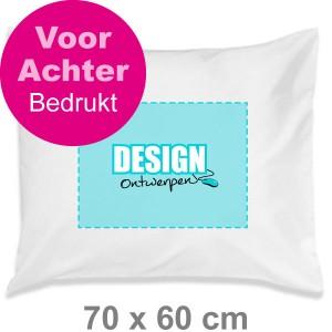 Kussensloop 70x60 cm - Voor- en achterkant transferdruk - Kussensloop maken - DesignOntwerpen