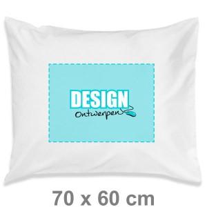 Kussensloop 70x60 cm - Voorkant transferdruk - Kussensloop maken - DesignOntwerpen