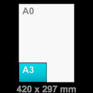 A3 Poster - liggend - Poster maken - liggend - DesignOntwerpen