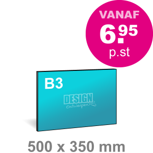 B3 Reclamebord maken - liggend - Reclamebord maken - DesignOntwerpen