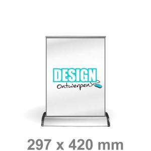 Roll-up banner A3 - tafelmodel - - DesignOntwerpen