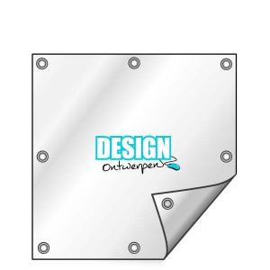 Buitendoek 100x100 cm - met ringen - Spandoek - vierkant - DesignOntwerpen