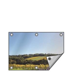 Buitendoek 100x50 cm - met ringen - Spandoek - liggend - DesignOntwerpen