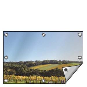 Buitendoek 150x70 cm - met ringen - Spandoek - liggend - DesignOntwerpen