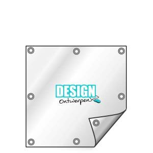 Buitendoek 80x80 cm - met ringen - Spandoek - vierkant - DesignOntwerpen