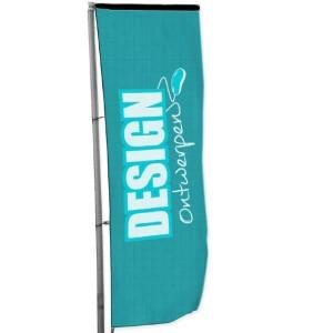 Baniervlag 100x400 cm - Baniervlag ontwerpen - DesignOntwerpen