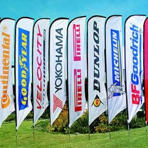 Squareflag large 85x400 cm - Beachflag ontwerpen - DesignOntwerpen