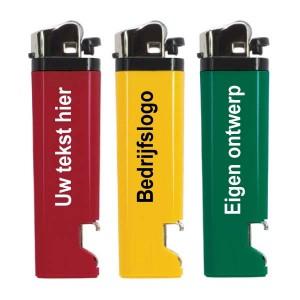 Aansteker met opener - 2 kanten bedrukt - Aansteker ontwerpen - DesignOntwerpen