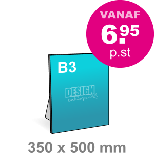 B3 Foamboard - staand - Foamboarden - DesignOntwerpen