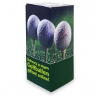 Bedrukt doosje voor 3 golfballen