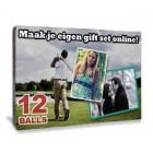 Bedrukte doos voor 12 golfballen