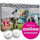 Giftset Golfballen 15 stuks + bedrukte doos