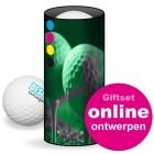Golfballen Giftset - 3 ballen in koker