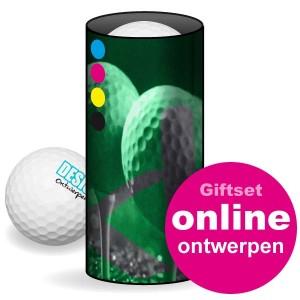 Golfballen - Golfballen Giftset - 3 ballen in koker