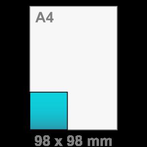 Kaart maken - vierkant - Vierkant kaart - klein
