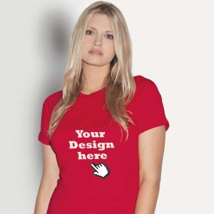 Dames T-shirt bedrukken: Achterkant - T-shirts - DesignOntwerpen