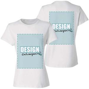Dames T-shirt bedrukken: Voor- en achterkant - T-shirts - DesignOntwerpen