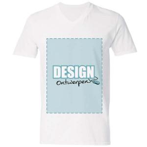 T-shirt V-hals bedrukken: Voorkant - T-shirts - DesignOntwerpen