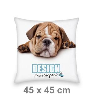 Kussen 45x45 cm - Voorkant bedrukt - Sierkussen maken - DesignOntwerpen
