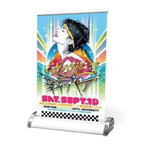 Roll-up banner A4 - tafelmodel - - DesignOntwerpen