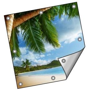 Buitendoek 120x120 cm - met ringen - Spandoek - vierkant - DesignOntwerpen