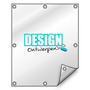 Buitendoek 100x150 cm - met ringen - Spandoek - staand - DesignOntwerpen