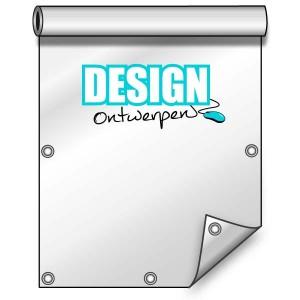 Buitendoek 100x200 cm - met ringen - Spandoek - staand - DesignOntwerpen