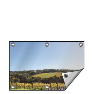 Buitendoek 120x50 cm - met ringen - Spandoek - liggend - DesignOntwerpen