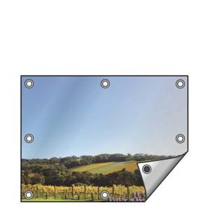 Buitendoek 120x70 cm - met ringen - Spandoek - liggend - DesignOntwerpen