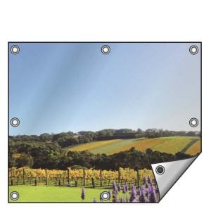 Buitendoek 150x100 cm - met ringen - Spandoek - liggend - DesignOntwerpen