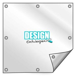 Buitendoek 150x150 cm - met ringen - Spandoek - vierkant - DesignOntwerpen